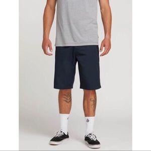 NWOT Men's Volcom Fricken Chino Shorts Dark Navy